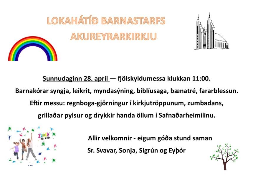 lokahátíð barnastarfs 28apríl 19