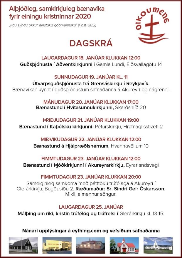 bænavika2020_dagskrá_auglýsing