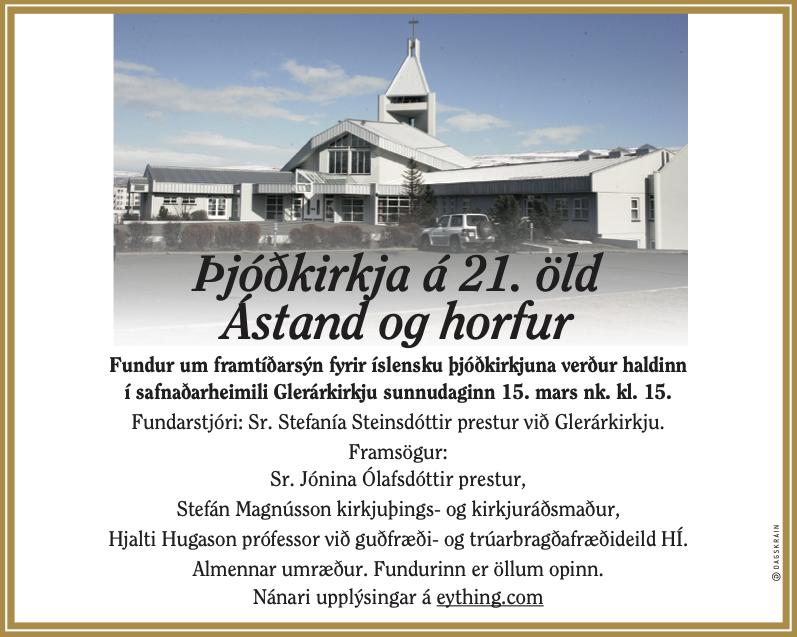 Thjodkirkjan til framtíðar 20200315
